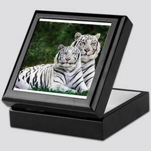 White Tigers Keepsake Box