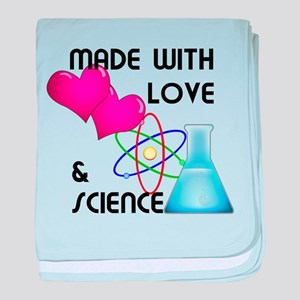 Love and science baby blanket