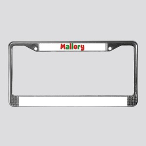 Mallory Christmas License Plate Frame