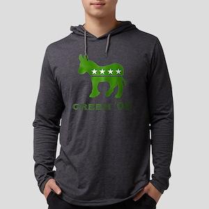 Green Obama Democrat Mens Hooded Shirt