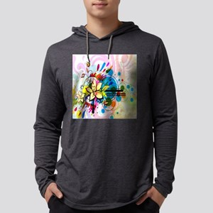 Flower Abstract Mens Hooded Shirt