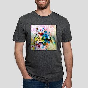 Flower Abstract Mens Tri-blend T-Shirt
