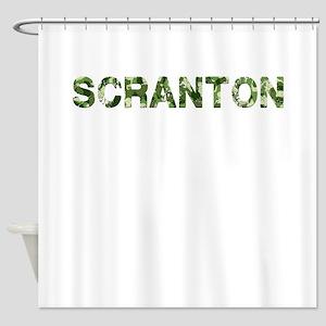 Scranton, Vintage Camo, Shower Curtain