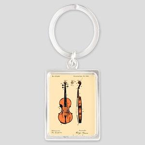 Fiddle Patent Portrait Keychain