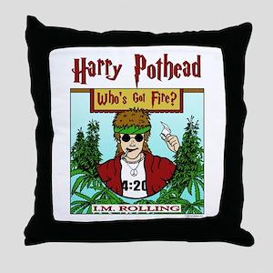 Harry Pothead Throw Pillow