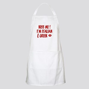 Kiss Me I'm Greek & Italian BBQ Apron