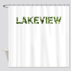 Lakeview, Vintage Camo, Shower Curtain