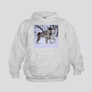 Wolves Playing Kids Hoodie
