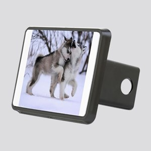 Wolves Playing Rectangular Hitch Cover