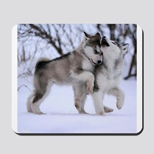 Wolves Playing Mousepad