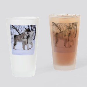 Wolves Playing Drinking Glass
