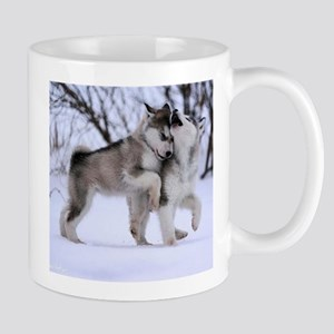 Wolves Playing Mug