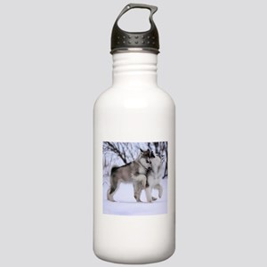Wolves Playing Stainless Water Bottle 1.0L