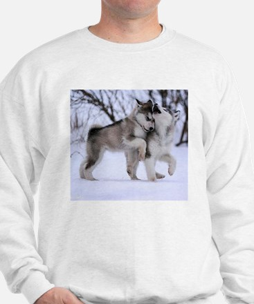 Wolves Playing Sweater