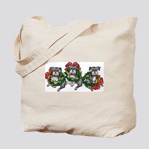 Schnazuers in Wreaths Tote Bag