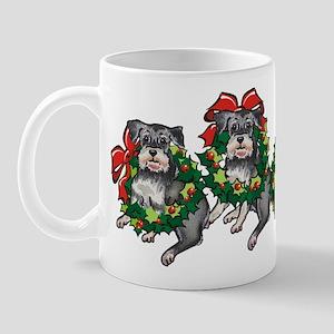 Schnazuers in Wreaths Mug