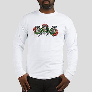 Schnazuers in Wreaths Long Sleeve T-Shirt