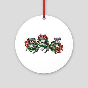 Schnazuers in Wreaths Ornament (Round)