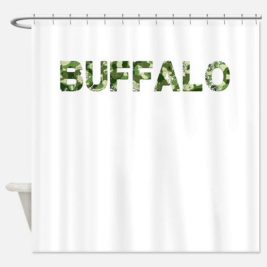 Buffalo, Vintage Camo, Shower Curtain