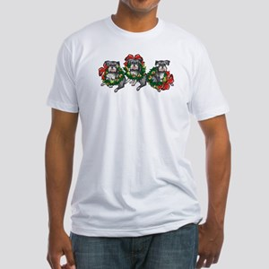 Schnazuers in Wreaths Fitted T-Shirt