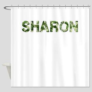 Sharon, Vintage Camo, Shower Curtain