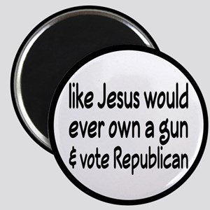 Jesus Wouldn't Own A Gun Magnet