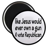 "Jesus Wouldn't Own A Gun 2.25"" Magnet (10 pac"