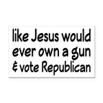 Jesus Wouldn't Own A Gun Rectangle Car Magnet
