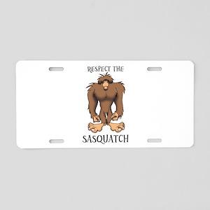 RESPECT THE SASQUATCH Aluminum License Plate