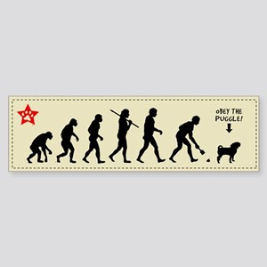 PUGGLE Evolution - Dog Bumper Sticker