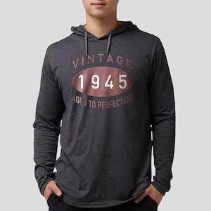 1945 Vintage Mens Hooded Shirt