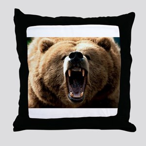 Grizzzly Throw Pillow