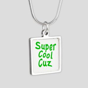 Super Cool Cuz Silver Square Necklace