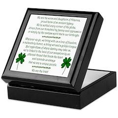 'We Are The Irish' Keepsake Box
