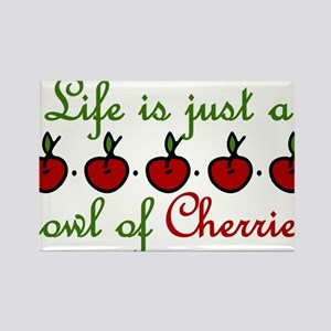 Bowl Of Cherries Rectangle Magnet
