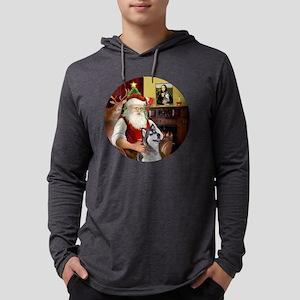 Santa (R) - Alaskan Malamute Mens Hooded Shirt
