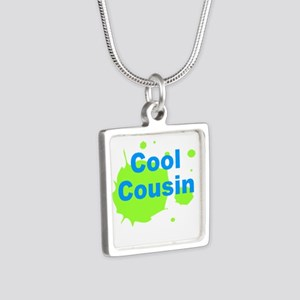 Cool Cousin Silver Square Necklace
