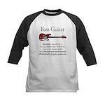 Bass Guitar LFG Kids Baseball Jersey