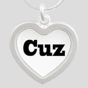 Cuz Silver Heart Necklace