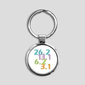 runner distances Round Keychain