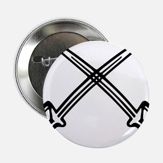 "White Sabers Drum and Bugle corps logo 2.25"" Butto"