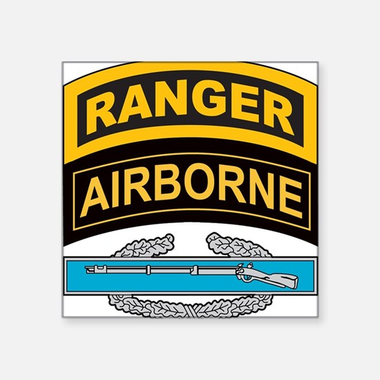 CIB with Ranger/Airborne Tab Rectangle Sticker