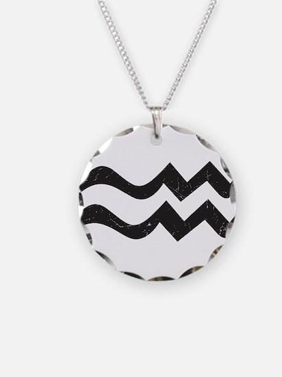Aquarius Symbol Necklace