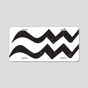 Aquarius Symbol Aluminum License Plate