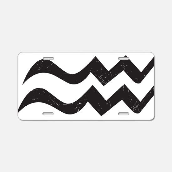 Aquarius Symbol Aluminum License Plate