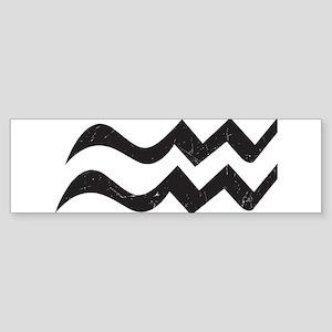 Aquarius Symbol Sticker (Bumper)