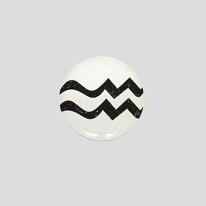 Aquarius Symbol Mini Button