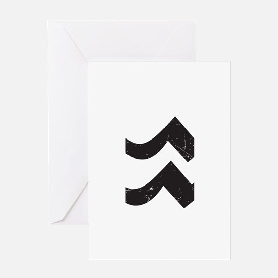 Aquarius Symbol Greeting Card