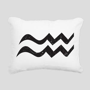 Aquarius Symbol Rectangular Canvas Pillow