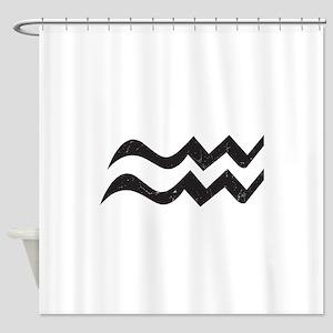 Aquarius Symbol Shower Curtain